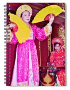 Fan Dancer And Monochord Player In Court Music Show At Citadel Of Nguyen Dynasty In Hue-vietnam Spiral Notebook