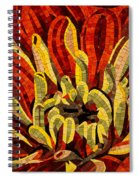 Fanciful Bold Floral Mosaic Spiral Notebook