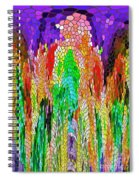 Fanciful Colors  Abstract Mosaic Spiral Notebook