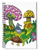 Fanciful Mushroom Nature Doodle Spiral Notebook