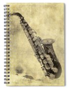 Fancy Antique Saxophone In Pastel Spiral Notebook