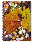 Fancy Fall Leaves Spiral Notebook