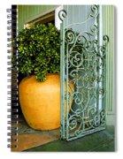 Fancy Gate And Plain Pot Spiral Notebook