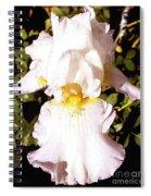Fancy Lady White Iris Spiral Notebook