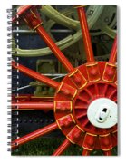 Fancy Tractor Wheel Spiral Notebook