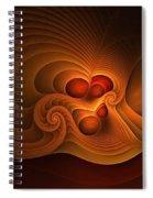 Fanfare Orange Spiral Notebook