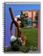 Fantasia Mickey And Broom Floral Walt Disney World Hollywood Studios Spiral Notebook