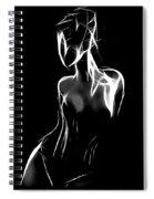 Fantastic Curves Spiral Notebook