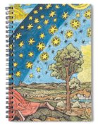 Fantastic Depiction Of The Solar System Spiral Notebook