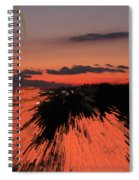 Fantastic Space Sunset Spiral Notebook