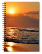 Fantastic Sunrise Colors Clouds Rays And Waves On Navarre Beach Spiral Notebook