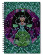 Fantasy Cat Fairy Lady On A Date With Yoda. Spiral Notebook