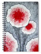 Fantasy Flowers In Red No 1 Spiral Notebook