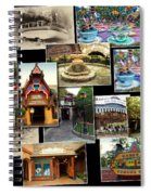 Fantasyland Disneyland Collage Spiral Notebook