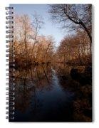 Far Mill River Reflects Spiral Notebook