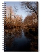 Far Mill River Reflects Spiral Notebook