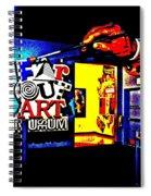 Far Out Art Museum At Wonderworks Spiral Notebook