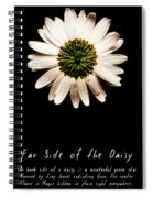 Far Side Of The Daisy Fractal Version Spiral Notebook