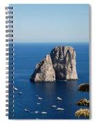 Faraglioni In Capri Spiral Notebook