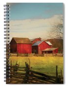 Farm - Barn - Just Up The Path Spiral Notebook