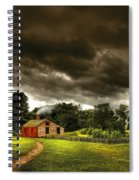 Farm - Barn - Storms A Comin Spiral Notebook