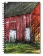 Farm - Barn - The Old Red Barn Spiral Notebook