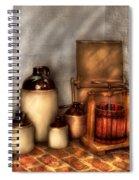 Farm - Bottles - Let's Make Some  Apple Juice Spiral Notebook