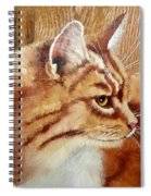 Farm Cat On Rustic Wood Spiral Notebook