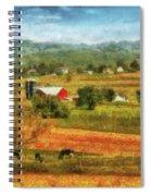 Farm - Cow - Cows Grazing Spiral Notebook