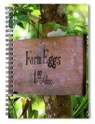Farm Eggs Spiral Notebook