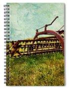 Farm Equipment In A Field Spiral Notebook