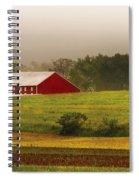 Farm - Farmer - Tilling The Fields Spiral Notebook