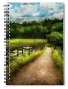 Farm - Fence - Every Journey Starts With A Path  Spiral Notebook