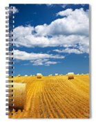 Farm Field With Hay Bales Spiral Notebook