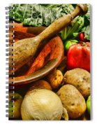 Farm Fresh Food In A Country Kitchen Spiral Notebook