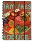 Farm Fresh Produce Spiral Notebook