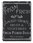 Farm Fresh Sign Spiral Notebook