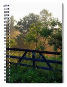 Farm Gate In Morning Light Spiral Notebook