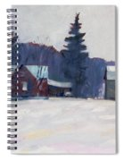 Farm In The Snow Spiral Notebook