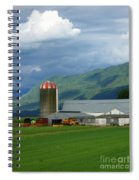 Farm In The Valley Spiral Notebook