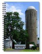 Farm - John Deere Tractor And Silos Spiral Notebook