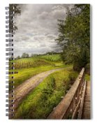 Farm - Landscape - Jersey Crops Spiral Notebook