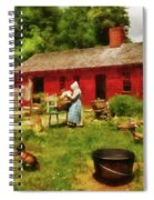 Farm - Laundry - Old School Laundry Spiral Notebook
