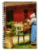 Farm - Laundry - Washing Clothes Spiral Notebook