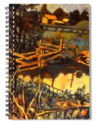 Farm Pond Reflections Spiral Notebook
