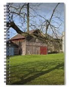 Farm Scene With Barns And Silo Spiral Notebook