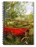Farm - Tool - A Rusty Old Wagon Spiral Notebook
