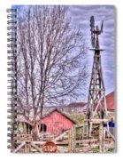 Farm - Windmill - Red Barn Farm - Missouri Spiral Notebook