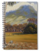 Farm With Large Gum Tree Spiral Notebook