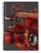 Farmall Tractor Spiral Notebook
